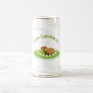 I love Capybaras Beer Stein