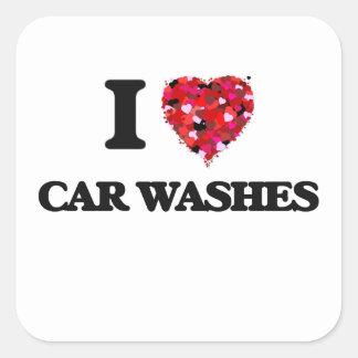 I love Car Washes Square Sticker
