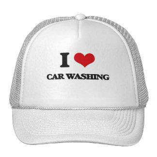 I Love Car Washing Hats