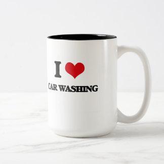 I Love Car Washing Coffee Mugs