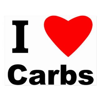 I Love Carbs! Postcard