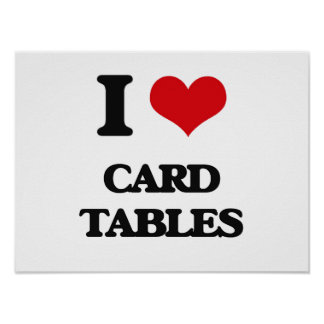 I love Card Tables Print