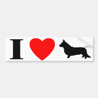 I Love Cardigan Welsh Corgis Bumper Sticker