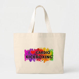 I Love Cardio Kickboxing Large Tote Bag