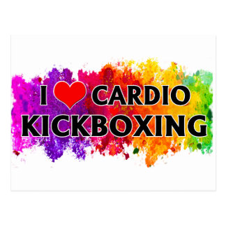 I Love Cardio Kickboxing Postcard