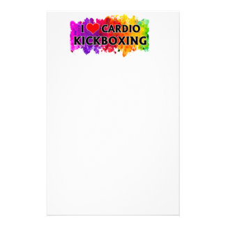 I Love Cardio Kickboxing Stationery