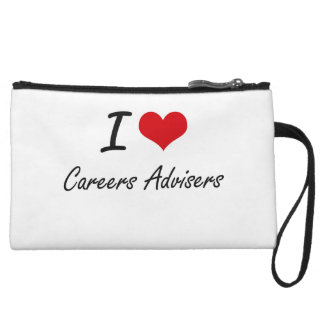 I love Careers Advisers Wristlet Clutches