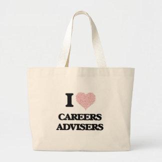 I love Careers Advisers (Heart made from words) Jumbo Tote Bag