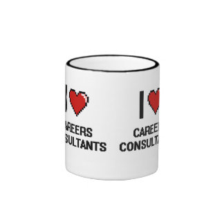 I love Careers Consultants Ringer Coffee Mug