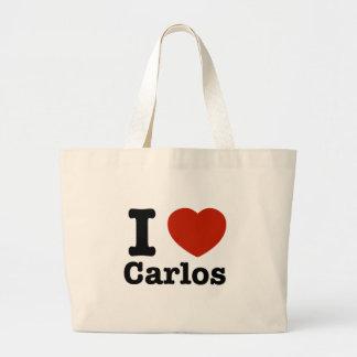 I love Carlos Tote Bags