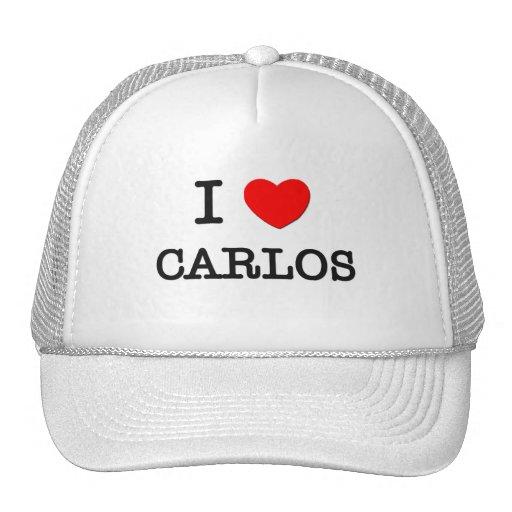 I Love Carlos Hat