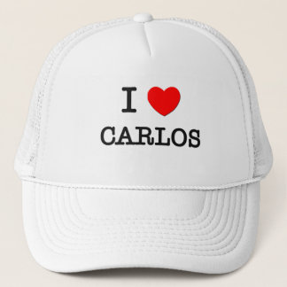 I Love Carlos Trucker Hat