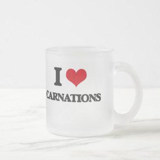 I love Carnations Coffee Mugs