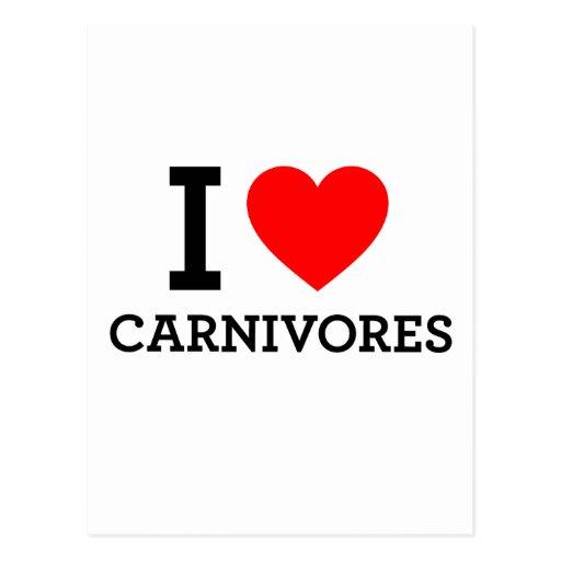 I Love Carnivores Postcards