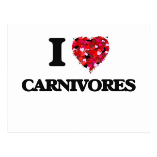 I love Carnivores Postcard