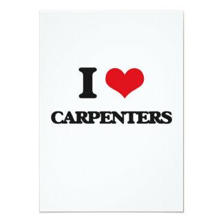 "I love Carpenters 5"" X 7"" Invitation Card"