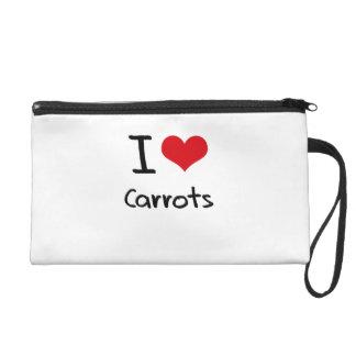 I love Carrots Wristlet Purses
