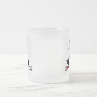 I Love Carson Forever 10 Oz Frosted Glass Coffee Mug