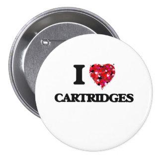I love Cartridges 7.5 Cm Round Badge