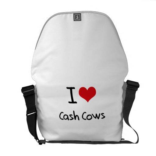 I love Cash Cows Messenger Bags
