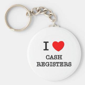I Love Cash Registers Basic Round Button Key Ring