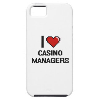 I love Casino Managers iPhone 5 Cases