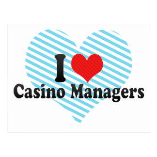 I Love Casino Managers Post Cards