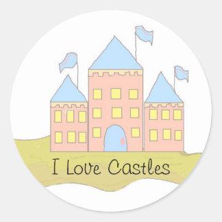 I Love Castles Classic Round Sticker
