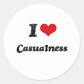 I love Casualness Stickers