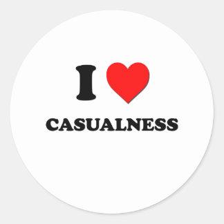 I love Casualness Sticker
