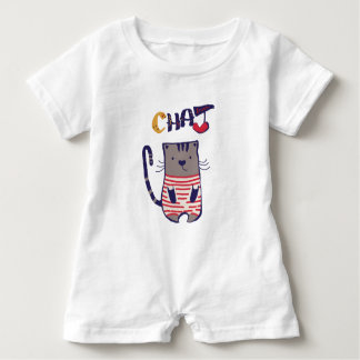 I Love Cat Baby Bodysuit