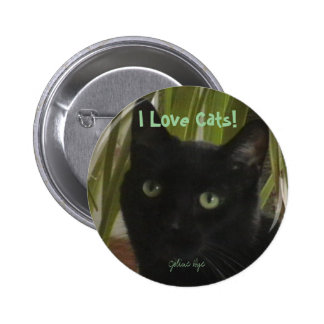 I Love Cats! 6 Cm Round Badge