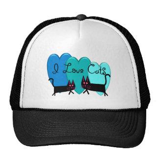 I love cats--Black Cat Art gifts Hat