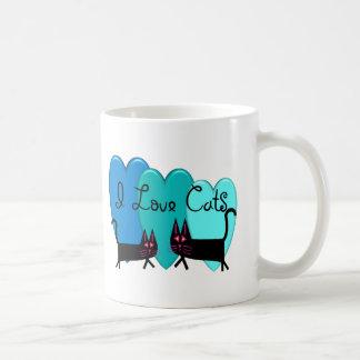 I love cats--Black Cat Art gifts Coffee Mug