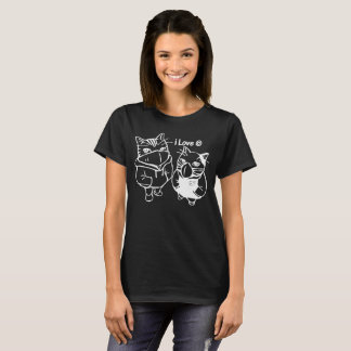 I love cats Bonnie and Clyde funny cat tshirt