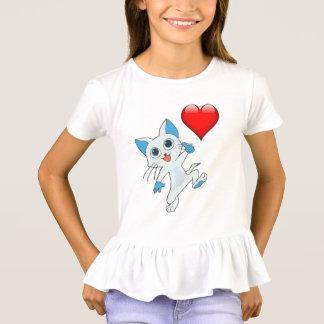 """i love cats"" Girls Cats Tshirt. T-Shirt"