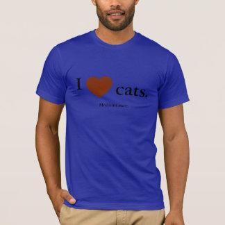 I love cats. Medium rare. T-Shirt