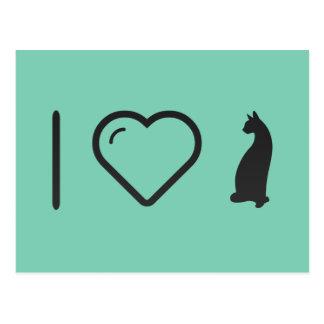 I Love Cats Purring Postcard