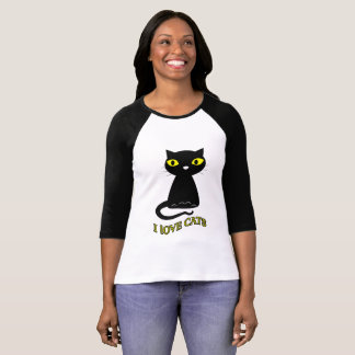 I LOVE CATS WOMEN'S T-SHIRTS