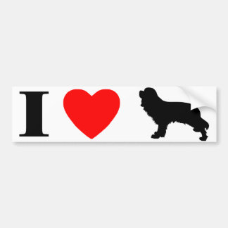 I Love Cavalier Spaniels Bumper Sticker