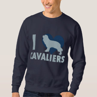 I Love Cavaliers Embroidered Shirt (Sweatshirt)