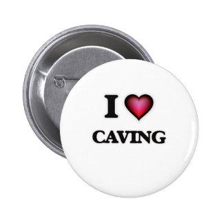 I Love Caving 6 Cm Round Badge