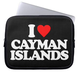 I LOVE CAYMAN ISLANDS LAPTOP COMPUTER SLEEVE