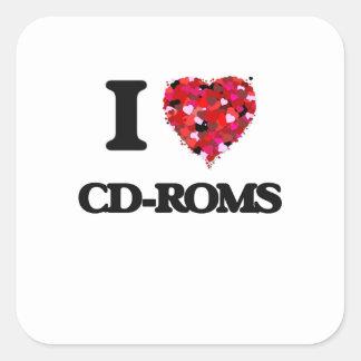 I love Cd-Roms Square Sticker