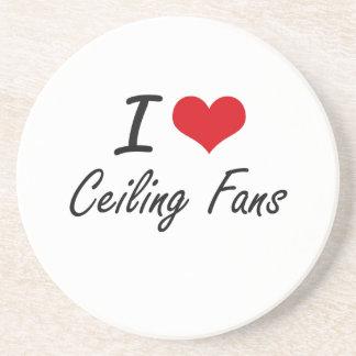 I love Ceiling Fans Artistic Design Coaster
