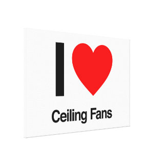 i love ceiling fans gallery wrapped canvas