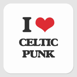 I Love CELTIC PUNK Stickers