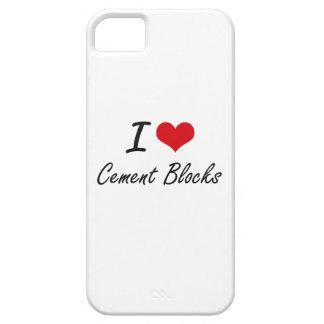 I love Cement Blocks Artistic Design iPhone 5 Cover