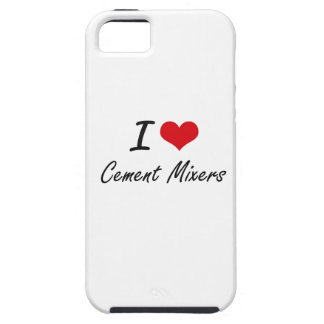 I love Cement Mixers Artistic Design Case For The iPhone 5
