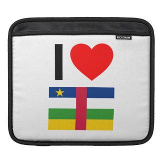 i love central african republic iPad sleeve